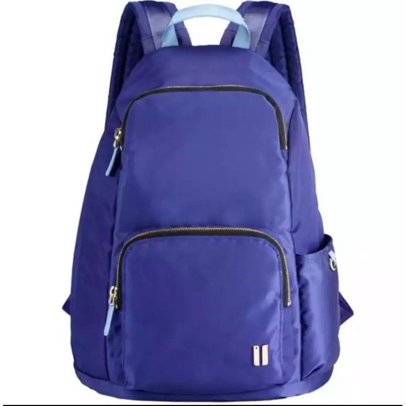 二手~專櫃sumdex藍色防盜後背包降落傘布料