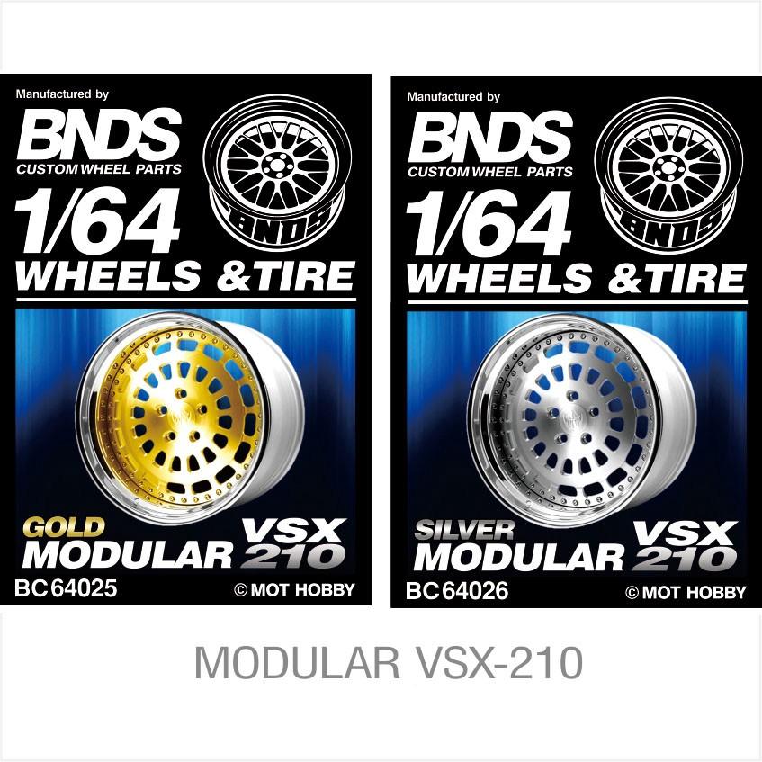 1/64 改裝輪胎 BNDS BC 64025 / 64026 合金輪殼 輪罩蝕刻片 無紋輪胎 4顆裝 金色/銀色