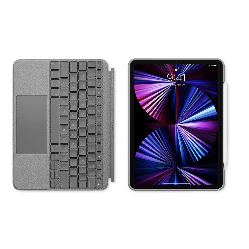 蝦皮推薦~羅技藍牙鍵盤iPad Pro12.9/Air4配觸控摸板Logitech Combo Touch