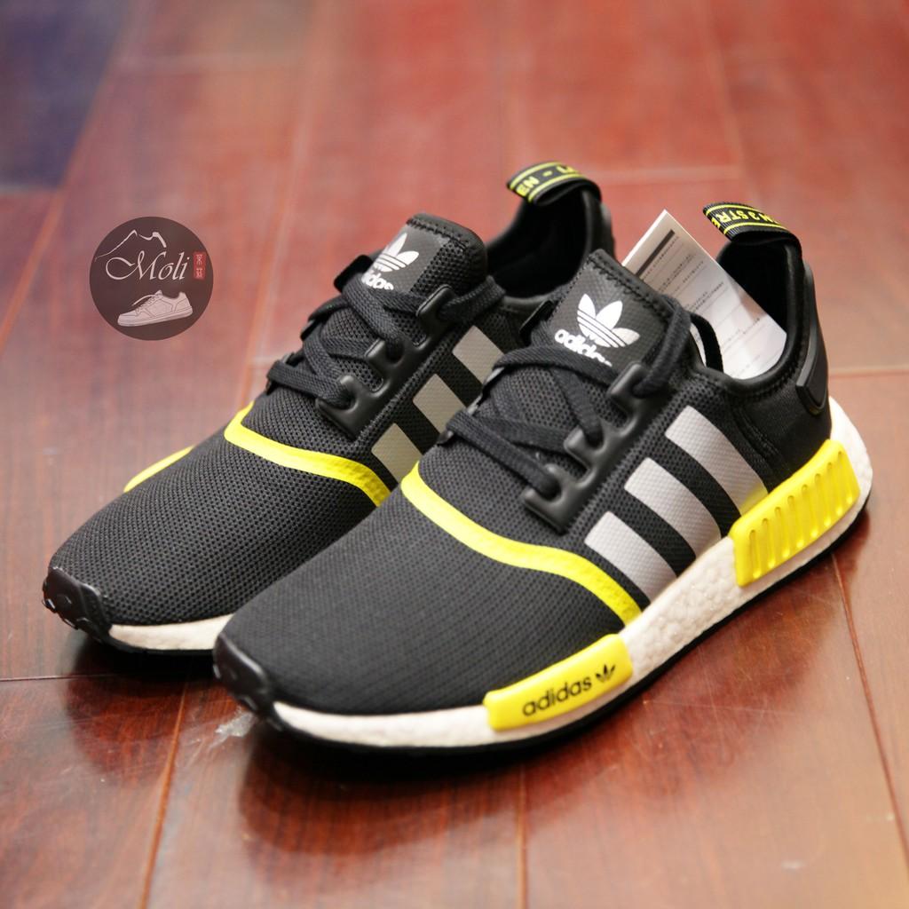 {Moli}日本限定 Adidas Originals NMD R1 黑黃 閃電 大黃蜂 網布 Boost F99713