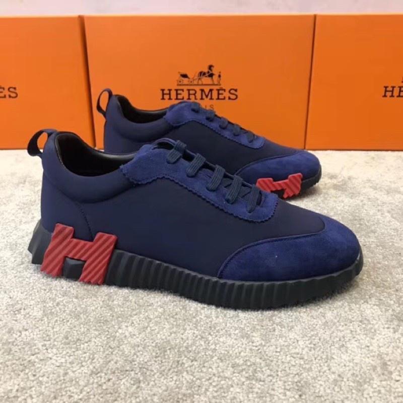 [親愛的買家]Hermes Bouncing 愛馬仕 20新 撞色 H 藍紅 休閒運動鞋 時尚 潮流 精