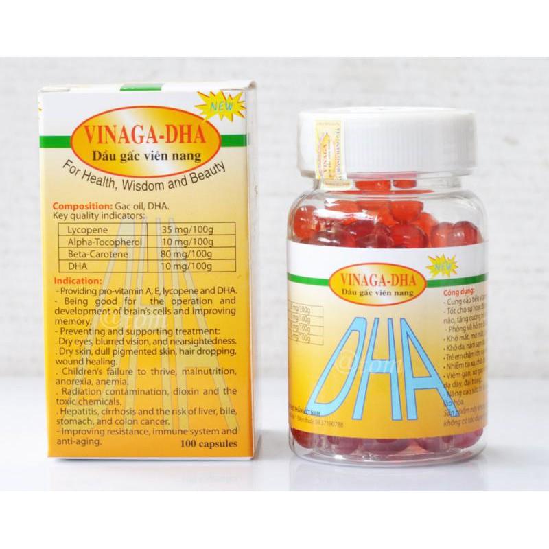 [現貨]越南木鱉果油 Vinaga-DHA (膠囊非素) 新包裝成分降低,原廠證明