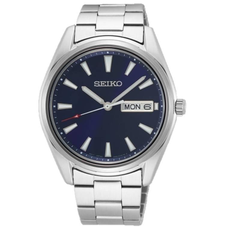 SEIKO 精工 6N53-00A0B-SUR341P1 經典簡約紳士腕錶 銀 藍 40mm