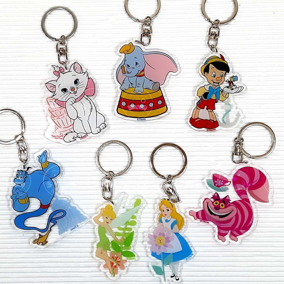 迪士尼 壓克力 鑰匙圈 吊飾 瑪莉貓 小飛象 小木偶 神燈 小仙子 愛麗絲 妙妙貓 台灣正版現貨
