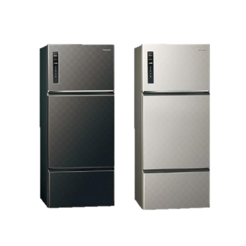 Panasonic國際牌 385公升 鋼板 變頻三門電冰箱 (星空黑) NR-C389HV-K