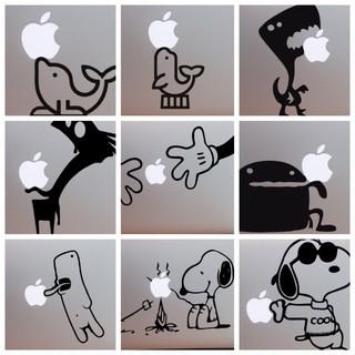 [ChoCo現貨]超優惠Apple Macbook Air/ Pro筆電外殼創意彩貼LOGO貼紙(可客製化) 桃園市