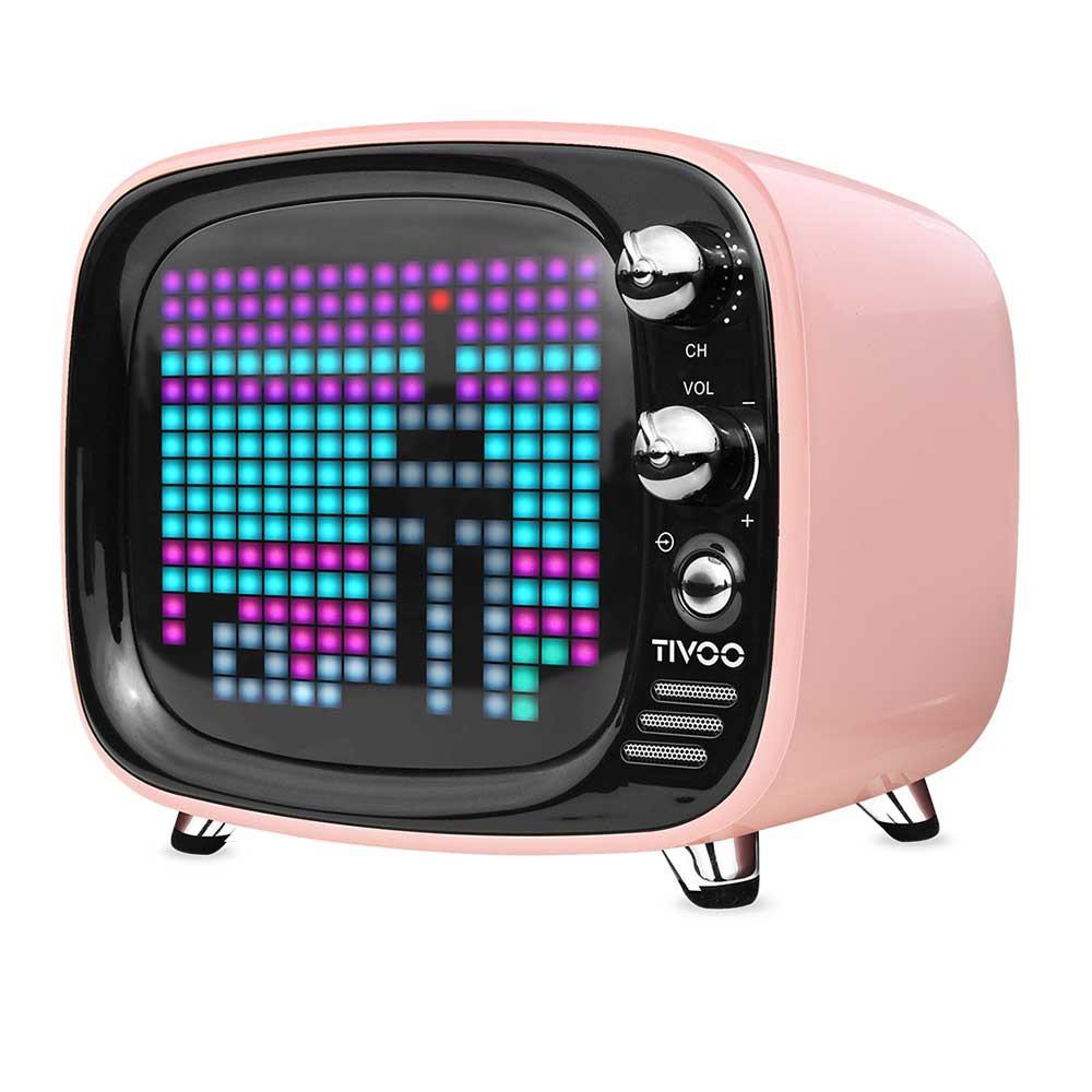 Divoom Tivoo智慧復古電視藍牙喇叭 3D 音效 便攜 無線 鬧鐘 復古 錄音 迷你智能 音箱 APP 喇叭