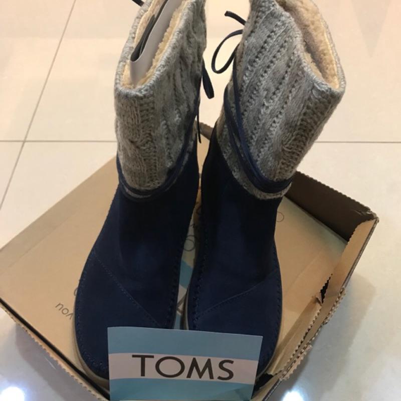 TOMS 刷毛深藍雪靴(全新)