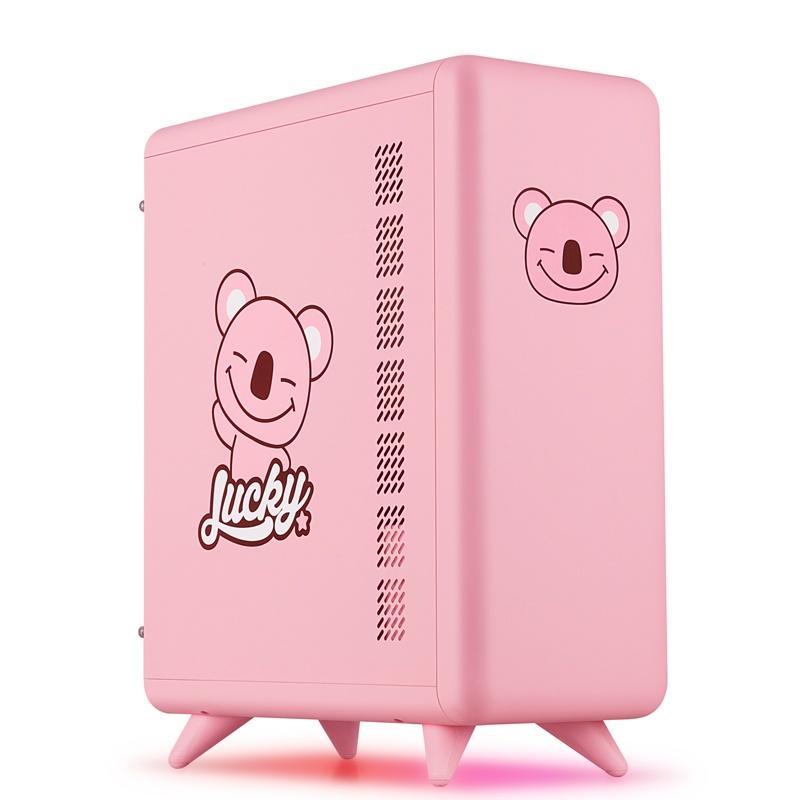 XG金河田萌兜電腦主機殼桌上型電腦迷你主機空箱外殼粉色簡約辦公matx主機殼
