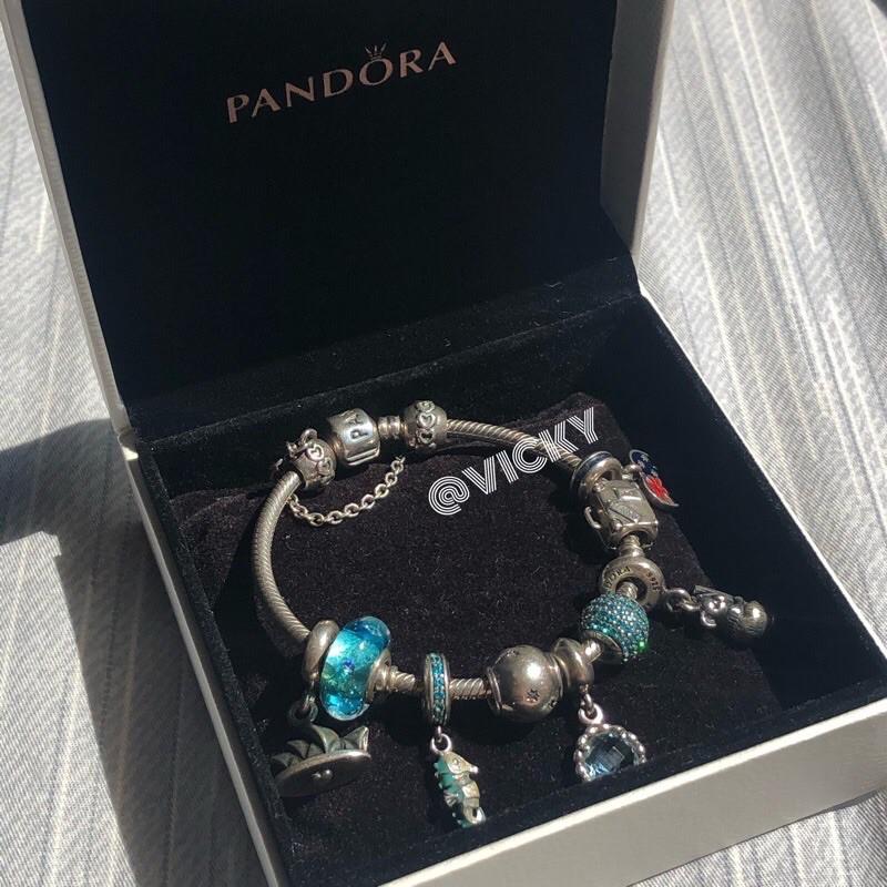 ❤️澳洲帶回 正品Pandora 潘朵拉 Sydney 手鍊組 吊飾 串飾 二手 絕版