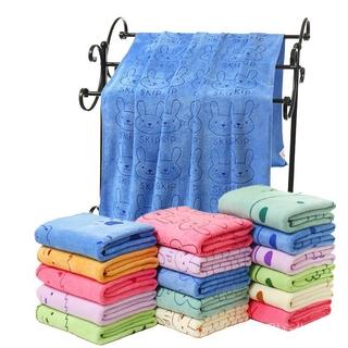 超細纖維強力吸水洗澡專用毛巾 人寵均適用 兔子款 M號 寵物用品  毛巾 吸水 纖維 洗澡 擦乾 柔軟 親膚