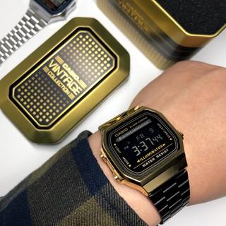腕錶先生Casio 黑金復古電子錶 一年保固 台灣公司貨 復古 金錶 卡西歐 United Freak 手錶 腕表 男錶 苗栗縣