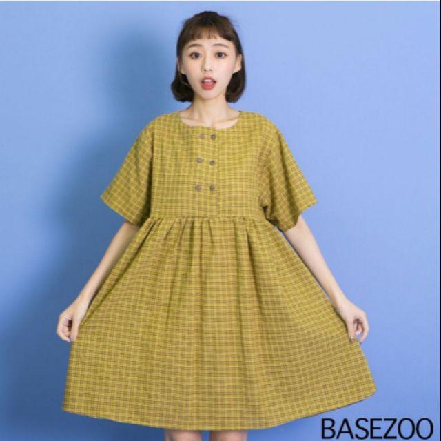 貝思奇 格子長版洋裝