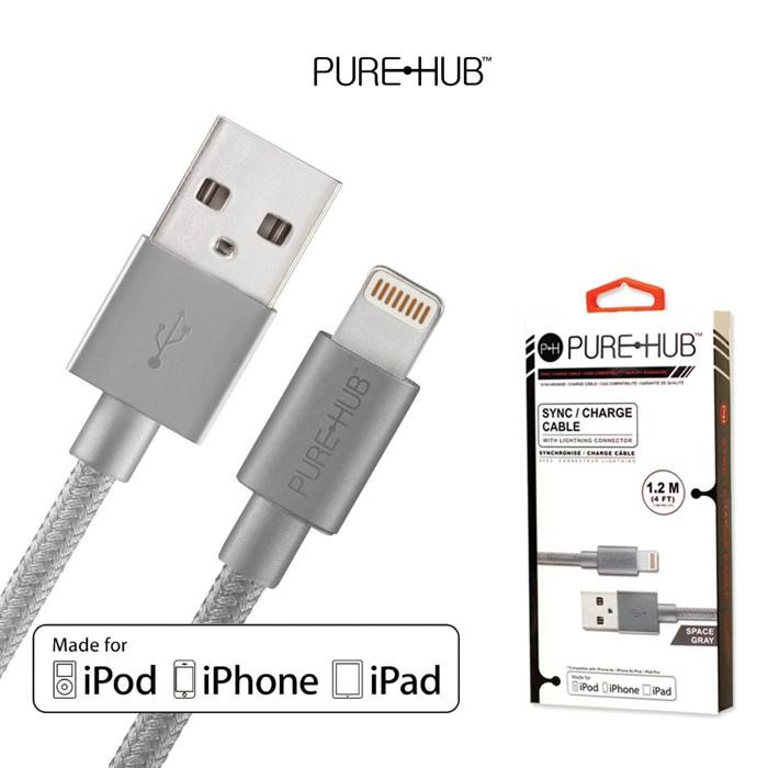 PURE HUB Lightning充電傳輸線 iPhone專用 高品質線材 長1.2M