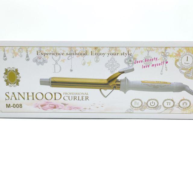 SANHOOD快速鈦金捲髮器/黃金電棒 國際電壓110/220V M-008