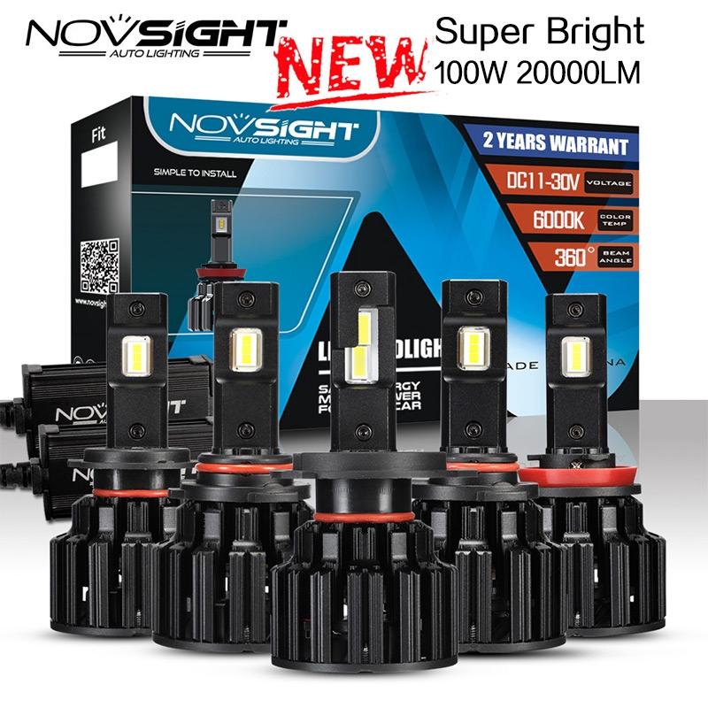 NOVSIGHT F06 LED大燈 H4 H7 H11 HB3 HB4 100W 20000LM 超亮 遠近光燈 車燈