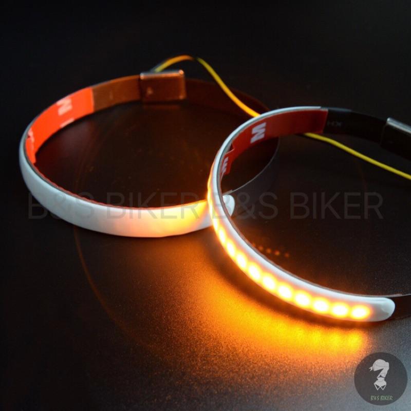 [B&S]LED前叉方向燈 避震方向燈 復古方向燈 環形 導光條 W800 SR400 MY150 KTR 野狼 方向燈