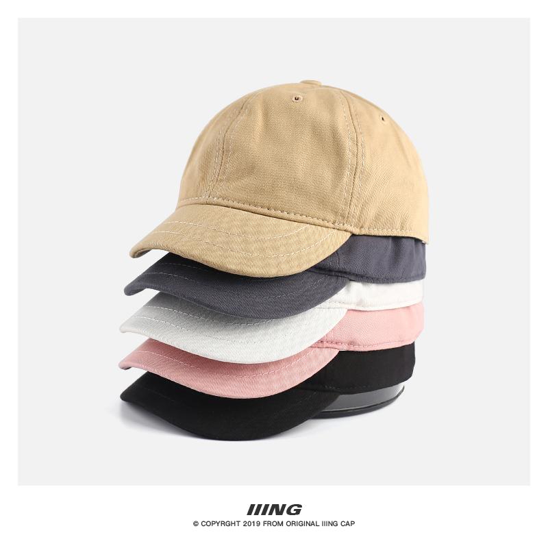 短檐帽子女夏鸭舌帽酷帅纯色男夏季透气防晒韩版街头潮人棒球帽
