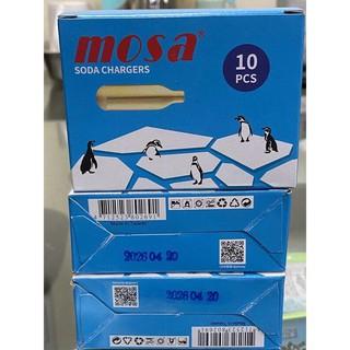 免運 MOSA CO2氣彈 台製 新包裝 氣泡水 氣彈小鋼瓶(1盒10入) 需一次購買10盒 超取最多只能購買16盒 高雄市