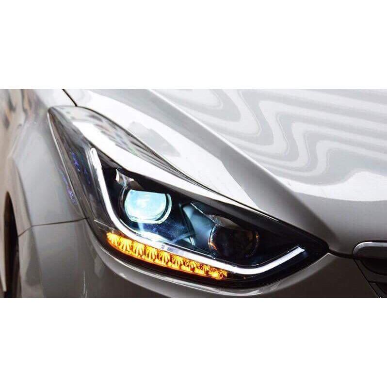 全新品 現代 ELANTRA 12-16年 下R8 光柱款 流水方向燈 大燈 (14年後需加構線組)