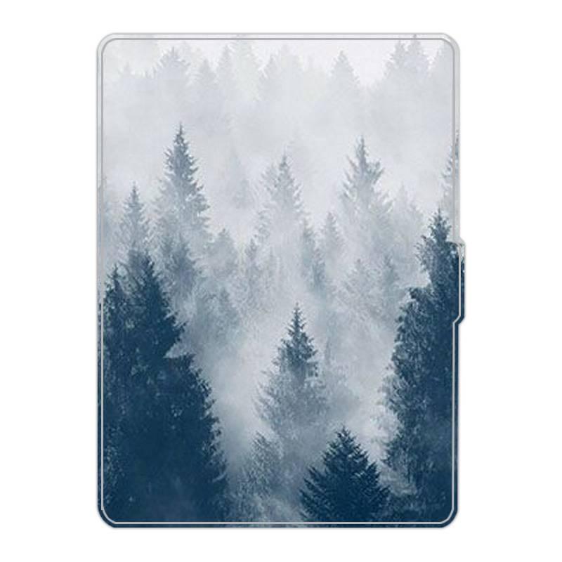 kindle paperwhite4 彩繪皮套 亞馬遜電子書保護殼 白狐 翻蓋休眠 防摔熱銷 森林