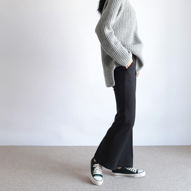 girlmonster 正韓 秋冬半靴型西裝褲 (黑色 咖啡色 灰色) 【A0284】