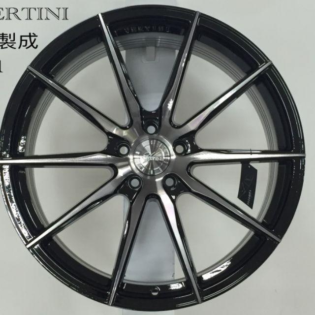 VERTINI RF1.1 17吋5*108黑底染黑透明旋壓輕量鋁圈~V40 FOCUS(起標價非實際售價 請洽詢)