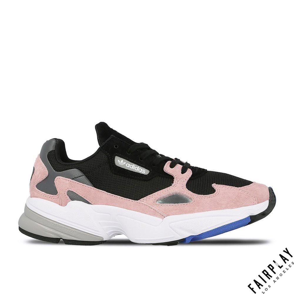 Adidas Originals W Falcon 黑粉 女鞋 低筒 輕量 復古 運動鞋 慢跑鞋 老爹鞋 B28126