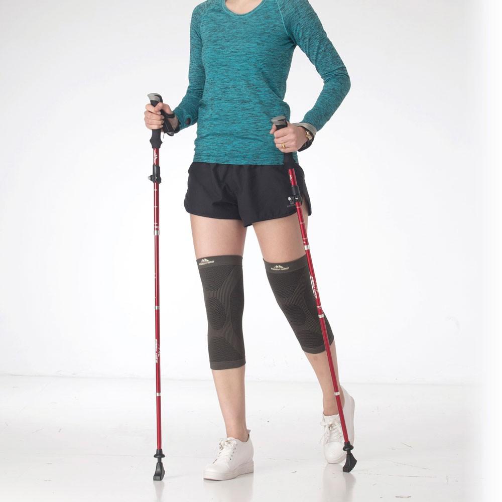【easyhike】醫療級遠紅外線護膝+登山杖(超值組)