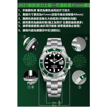 2021新款ROLEX勞力士手錶 41mm潛行者黑水鬼 綠水鬼手表 藍寶石鏡面全自動機械機芯腕表 勞力士