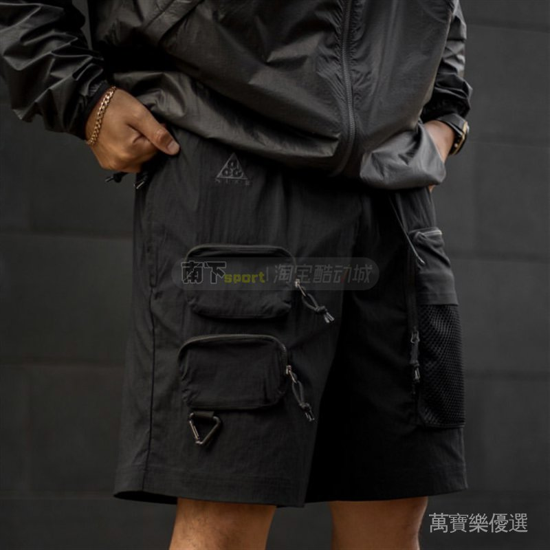 ACG223   -CK010短褲多口袋拒Nike工裝機能五分褲男子戶外-水7856 0Zb5