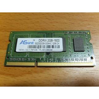 良品 ~ ASint 昱聯 2GB DDR3-1600 /  PC3-12800 1.5V SO-DIMM 新北市
