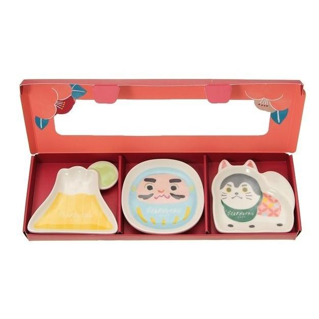 [現貨] JP日貨直送 日本 STARBUCKS 星巴克 新年 限定 富士山 日出 達摩 狛犬 小豆碟 小碟子 醬料