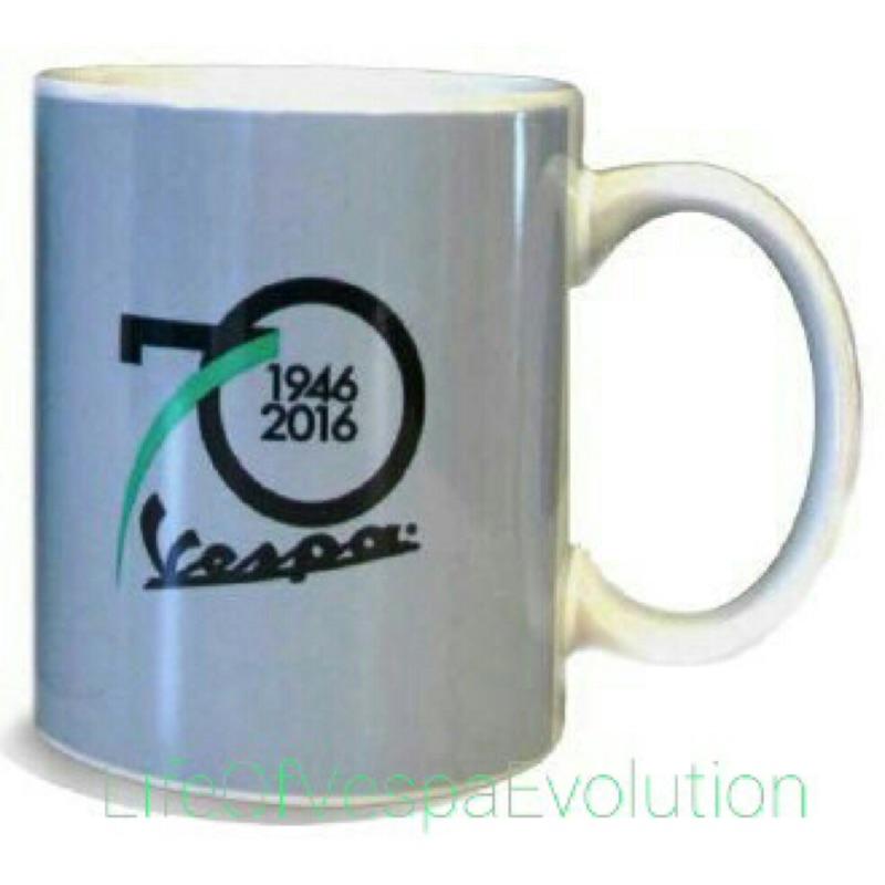 ★★非常偉士★★原廠 Vespa 70週年 紀念 馬克杯 灰色(現貨)