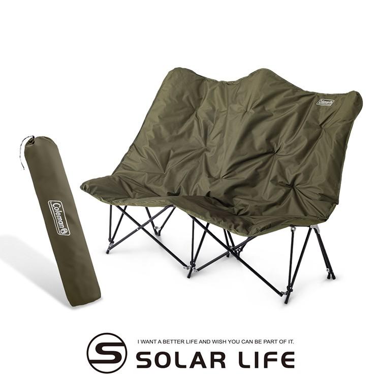 Coleman 沙發情人椅/CM-37432 雙人折疊露營椅 戶外雙人椅 摺疊長椅 雙人休閒椅 月亮椅沙發椅