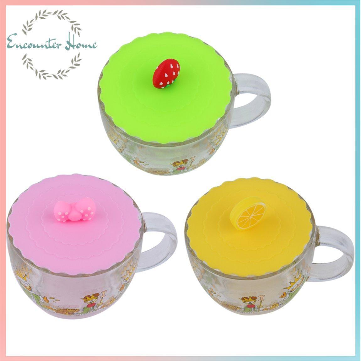 矽膠可愛防塵玻璃杯蓋咖啡杯吸密封蓋蓋新品上架 精選實惠