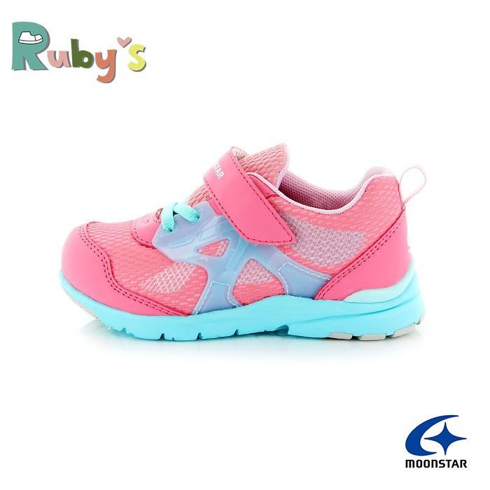 Moonstar月星童鞋 女童運動鞋 CARROT HI系列 日本機能鞋 足弓鞋墊 寬楦 跑步鞋 J9693 粉紅