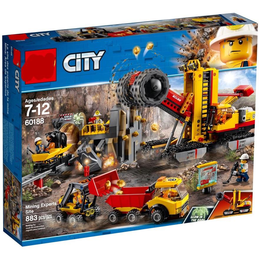 【熱銷】玩具 相容樂高  60188採礦專家基地02102 W 城市系列 L1