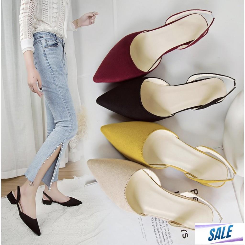 中西商店高跟涼鞋高跟鞋 Kasut Tinggi 拖鞋鞋 Lawa Alina Perempuan Wanita Wed
