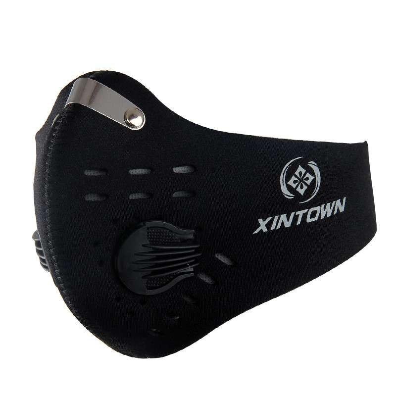 🚚現貨保固🔥XINTOWN騎行口罩純色面罩 戶外騎行專用防塵口罩 活性碳吸收 霧霾天氣KN95口罩