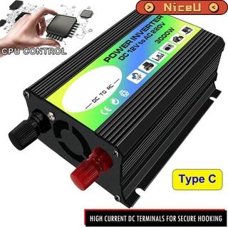 3000W 12V至220V /  110V雙USB汽車電源逆變器轉換器【NiceU2】