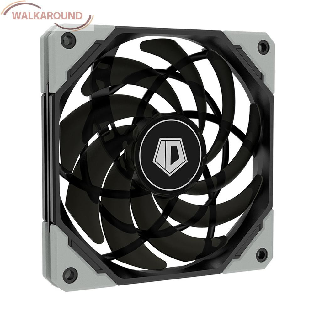Walkaround Id-Cooling 12015xt 120mm Pwm Pc 機箱風扇超薄靜音 Cpu 水冷風扇