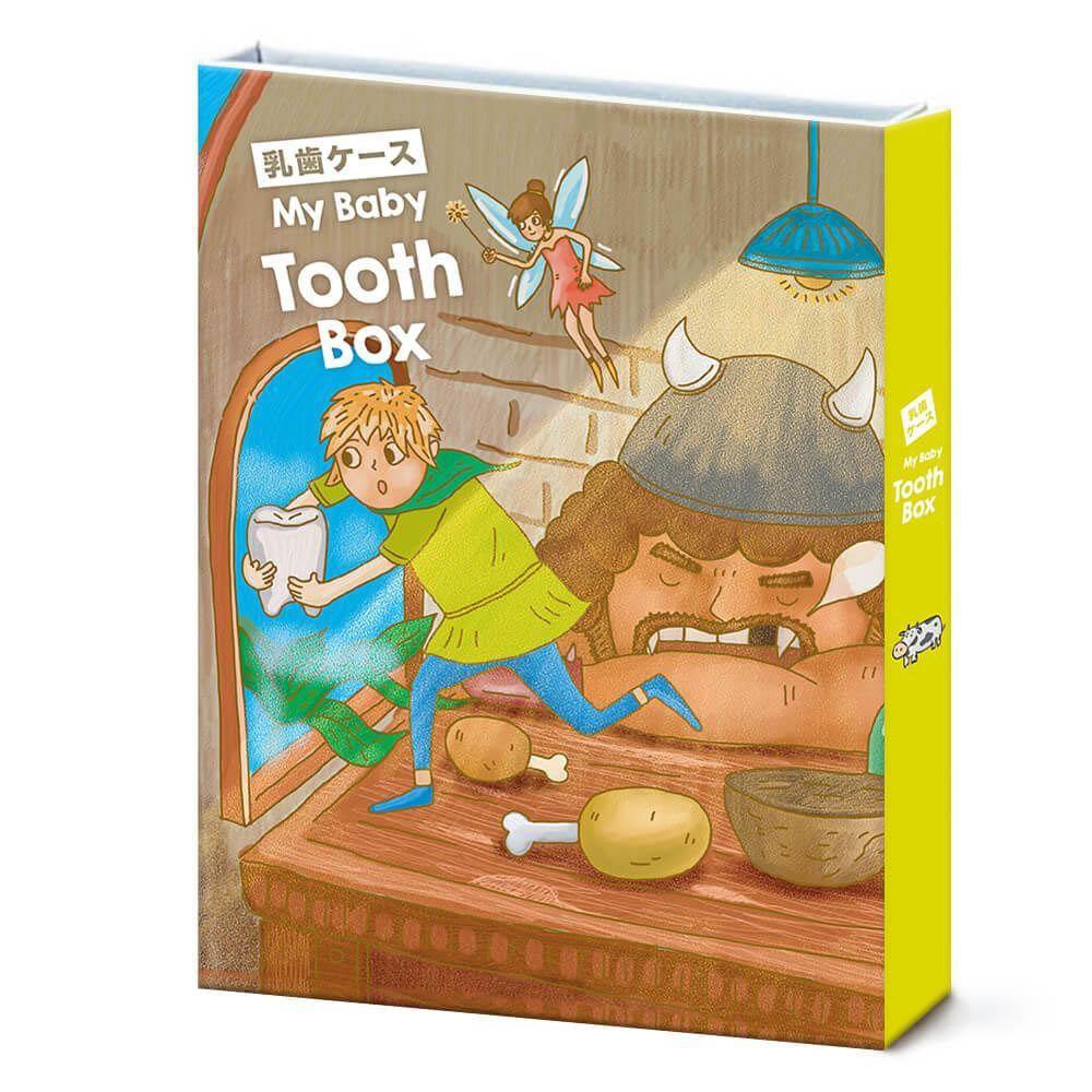 日本 ThinkTooth 日系童話乳牙盒-魔豆與巨人[免運費]