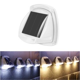 8LED 戶外太陽能樓梯燈 防水室外陽台花園裝飾室內家用庭院感應超亮LED壁燈