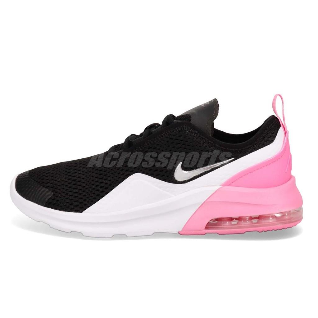 outlet store dc7d6 f6bac Nike 慢跑鞋Air Max Motion 2 GS 黑銀粉紅氣墊女鞋AQ2745-