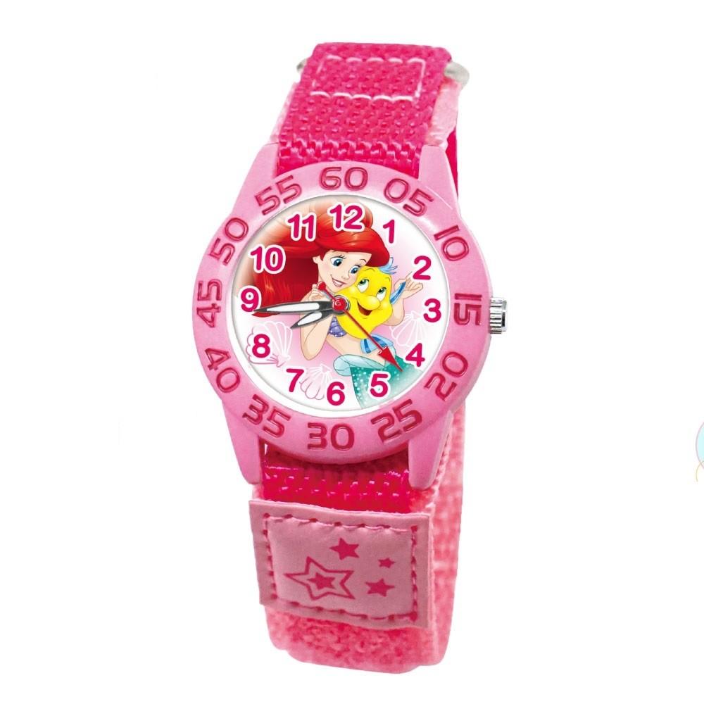 Disney 迪士尼正版 卡通兒童織帶錶 桃紅色小美人魚