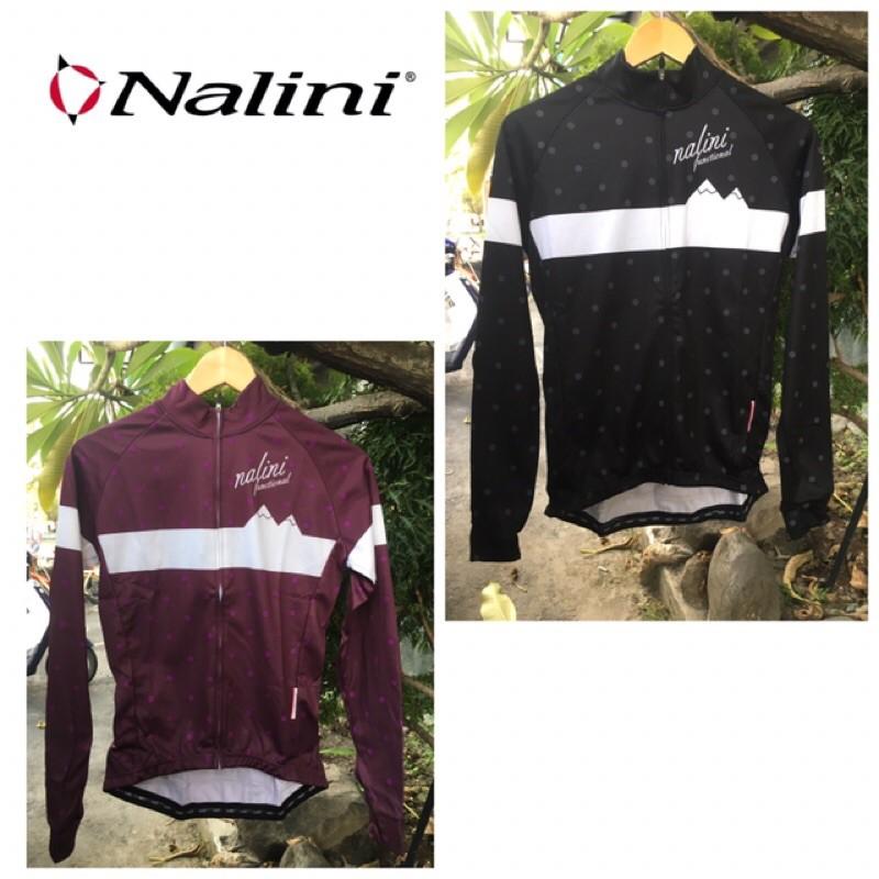 拜客先生-【NALINI】零碼出清 Nalini professional 義大利 女 微刷毛長袖車衣 黑/紫