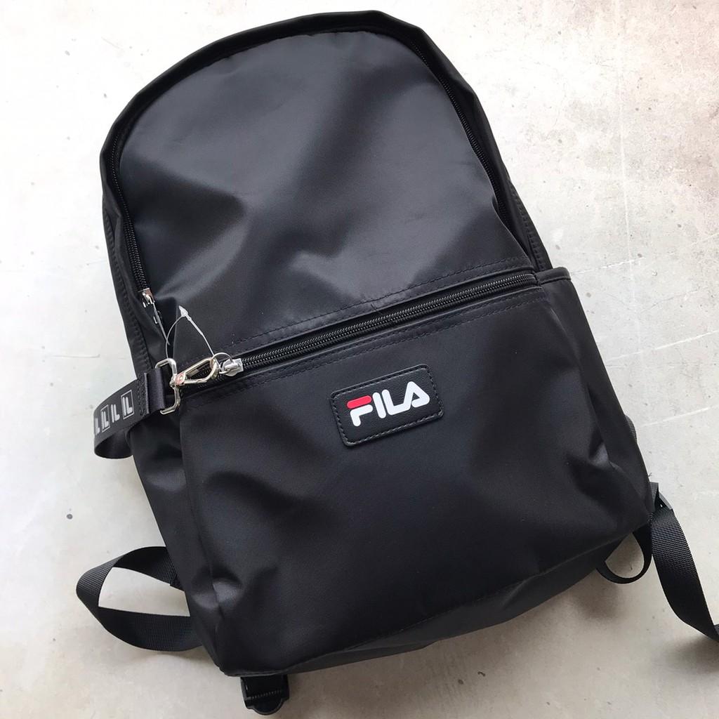 FILA 尼龍簡約後背包 黑色 男女可用 BPU-3005-BK