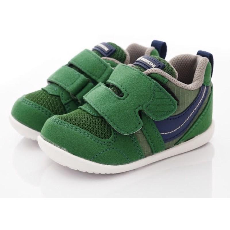 日本月星頂級童鞋 Moonstar櫻桃粉/紫/綠  HI系列2E抗菌款 寶寶 透氣機能學步鞋 寶寶款