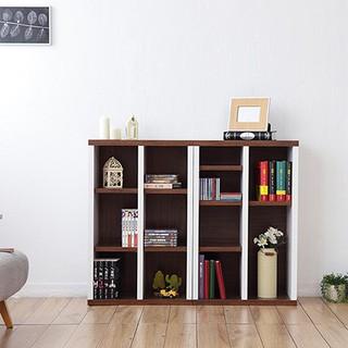 兩入一組《Accessco》日系雙色六格厚板櫃[胡桃白]-BF-90608SB2 台中市